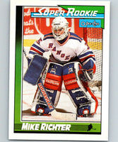 1991-92 O-Pee-Chee #11 Mike Richter SR Mint RC Rookie New York Rangers