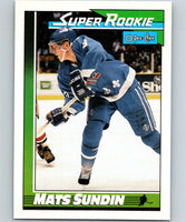 1991-92 O-Pee-Chee #12 Mats Sundin SR Mint RC Rookie Quebec Nordiques