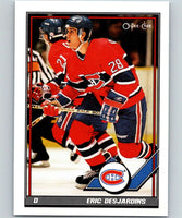 1991-92 O-Pee-Chee #14 Eric Desjardins Mint Montreal Canadiens