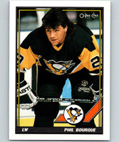 1991-92 O-Pee-Chee #33 Phil Bourque Mint Pittsburgh Penguins