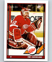 1991-92 O-Pee-Chee #35 Tim Cheveldae Mint Detroit Red Wings