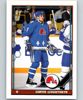 1991-92 O-Pee-Chee #39 Curtis Leschyshyn# Mint Quebec Nordiques