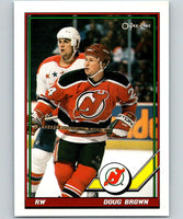 1991-92 O-Pee-Chee #42 Doug Brown Mint New Jersey Devils