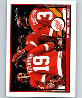 1991-92 O-Pee-Chee #60 Red Wings Team Mint Detroit Red Wings