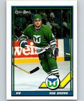 1991-92 O-Pee-Chee #83 Rob Brown Mint Hartford Whalers