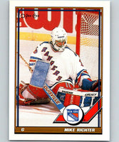 1991-92 O-Pee-Chee #91 Mike Richter Mint New York Rangers