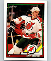 1991-92 O-Pee-Chee #92 Eric Weinrich Mint New Jersey Devils