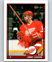 1991-92 O-Pee-Chee #104 Jimmy Carson Mint Detroit Red Wings