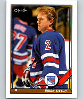 1991-92 O-Pee-Chee #108 Brian Leetch Mint New York Rangers