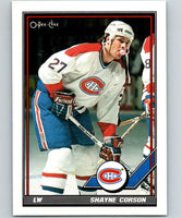 1991-92 O-Pee-Chee #157 Shayne Corson Mint Montreal Canadiens