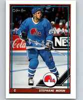 1991-92 O-Pee-Chee #159 Stephane Morin Mint Quebec Nordiques