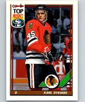 1991-92 O-Pee-Chee #172 Karl Dykhuis Mint Chicago Blackhawks