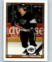 1991-92 O-Pee-Chee #173 Tomas Sandstrom Mint Los Angeles Kings
