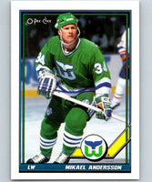 1991-92 O-Pee-Chee #197 Mikael Andersson Mint Hartford Whalers