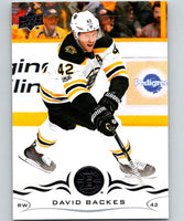 2018-19 Upper Deck #14 David Backes Mint Boston Bruins
