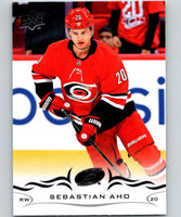 2018-19 Upper Deck #35 Sebastian Aho Mint Carolina Hurricanes