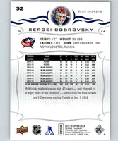 2018-19 Upper Deck #52 Sergei Bobrovsky Mint Columbus Blue Jackets