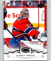 2018-19 Upper Deck #99 Carey Price Mint Montreal Canadiens