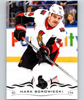 2018-19 Upper Deck #131 Mark Borowiecki Mint Ottawa Senators