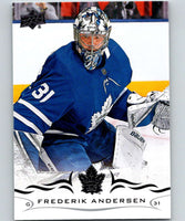 2018-19 Upper Deck #167 Frederik Andersen Mint Toronto Maple Leafs