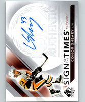 2017-18 SP Authentic Sign of the Times Autographs Conor Sheary MINT Auto 07571