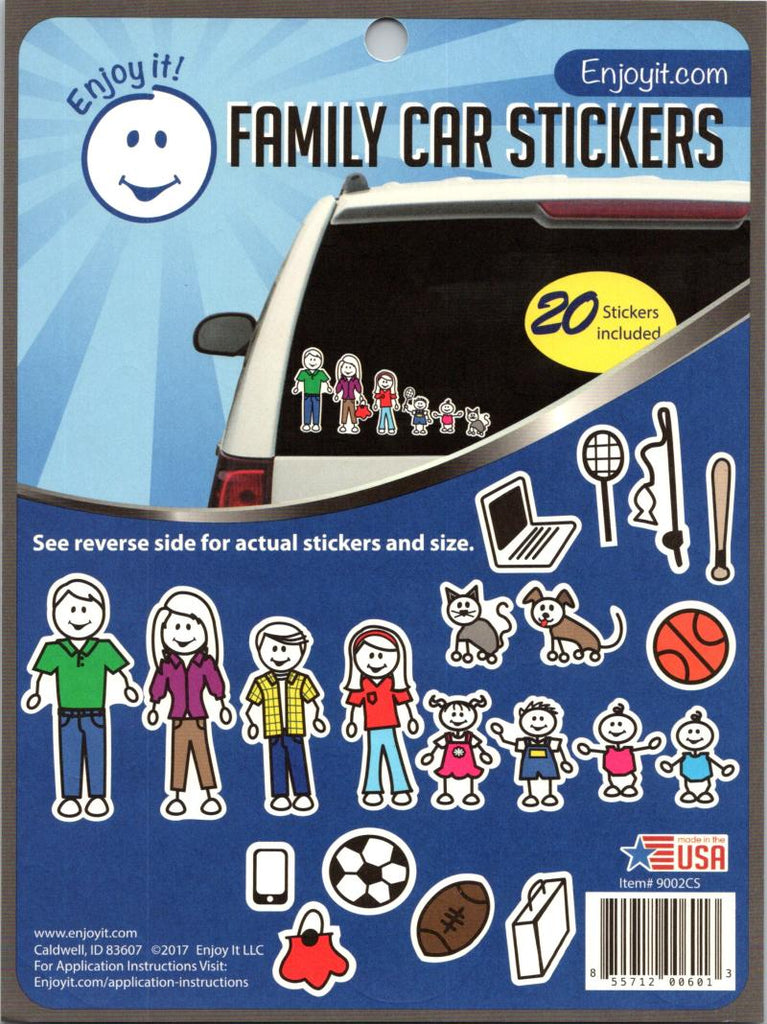 "Family Car Coloured Stickers Perfect Cut Decal/Sticker 6"" x 8"" Sheet"