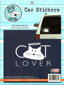 "Cat Lover Stickers Perfect Cut Decal/Sticker 6"" x 8"" Sheet"