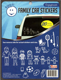 "Family Car Stickers White Perfect Cut Decal/Sticker 6"" x 8"" Sheet"