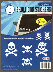 "Skull Car Stickers Perfect Cut Decal/Sticker 6"" x 8"" Sheet"