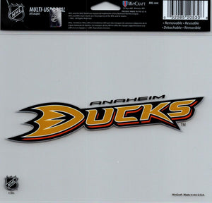 "Anaheim Ducks Multi-Use Decal Sticker 5""x6"" NHL Clear Back"