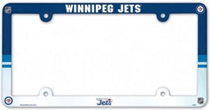 "Winnipeg Jets NHL Plastic Full Colour License Plate Frame 6""x12"""
