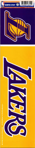 "Los Angeles Lakers 3"" x 12"" Bumper Strip NBA Sticker Decal"