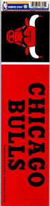 "Chicago Bulls 3"" x 12"" Bumper Strip NBA Sticker Decal"