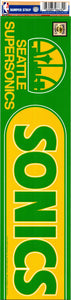 "Seattle Supersonics 3"" x 12"" Bumper Strip NBA Sticker Decal"