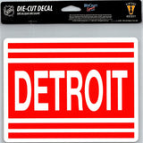"Detroit red Wings Vintage Perfect Cut 8""x8"" Large Licensed Decal Sticker"