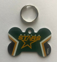 Dallas Stars NHL Hockey Bone ID Dog Tag with Ring