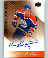 2013-14 Upper Deck Edmonton Oilers Collection Franchise Ink Ken Linseman Auto 07583