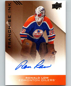 2013-14 Upper Deck Edmonton Oilers Collection Franchise Ink Ron Low Auto 07584