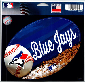 Toronto Blue Jays Ball Multi-Use Decal / Sticker MLB 5x6 Removable Reusable