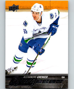 2015-16 Upper Deck #470 Alexandre Grenier Young Guns YG RC Rookie Y861
