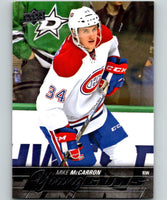 2015-16 Upper Deck #491 Mike McCarron Young Guns YG RC Rookie Y861