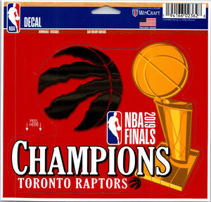 Toronto Raptors 2019 CHAMPS Multi-Use Decal NBA 5x6 Removable Reusable