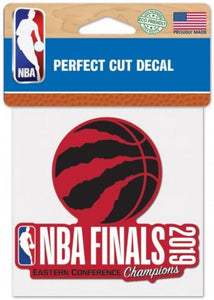 Toronto Raptors 2019 Eastern Champs Perfect Cut Colour 4x4 NBA Licensed Decal