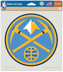 "Denver Nuggets Perfect Cut 8""x8"" Large Licensed NBA Decal Sticker"