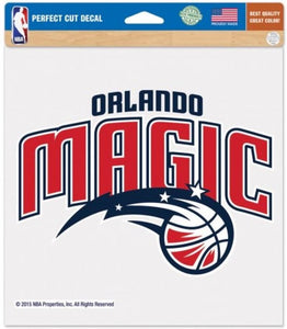 "Orlando Magic Perfect Cut 8""x8"" Large Licensed NBA Decal Sticker"