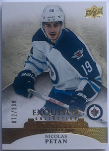 2015-16 Upper Deck Exquisite Collection Rookies Nicolas Petan 72/399 RC 07621
