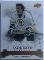 2015-16 Upper Deck Exquisite Collection Legends Phil Esposito 198/499 Bruins 07622