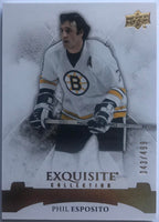 2015-16 Upper Deck Exquisite Collection Legends Phil Esposito 343/499 Bruins 07623