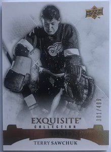 2015-16 Upper Deck Exquisite Collection Terry Sawchuk MINT 301/499 Wings 07624