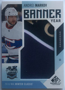 2016-17 SP Game Used Hockey Banner Year Winter Classic Andrei Markov 07626